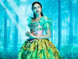lily collins cast as snow white.